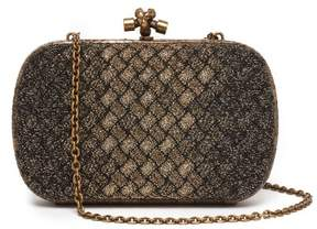 Bottega Veneta Knot Metallic Clutch - Womens - Gold Multi