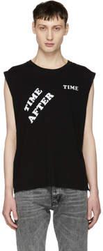 Saint Laurent Black Time After Time Muscle T-Shirt