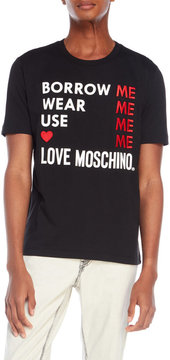 Love Moschino Embroidered T-Shirt