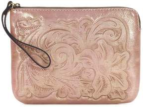 Patricia Nash Soft Metallic Tooled Collection Cassini Wristlet