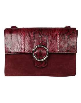 Orciani Women's Red Leather Shoulder Bag.