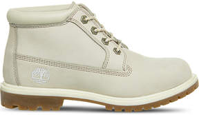 Timberland Ladies White Durable Nellie Waterproof Chukka Leather Boots