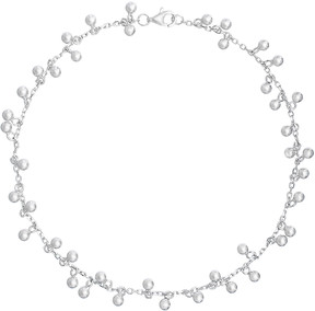 Bliss Sterling Silver Dangle-Sphere Anklet