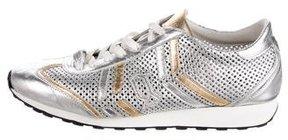 John Galliano Metallic Perforated Sneakers