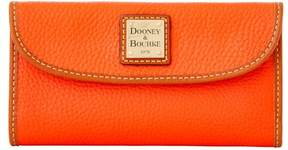 Dooney & Bourke Pebble Grain Continental Clutch Wallet - PERSIMMON - STYLE