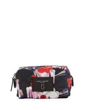 Marc Jacobs Geo Spot Printed Nylon Cosmetic Bag, Black/Multi