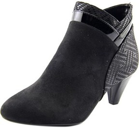 Karen Scott Cahleb Women Round Toe Canvas Black Ankle Boot.
