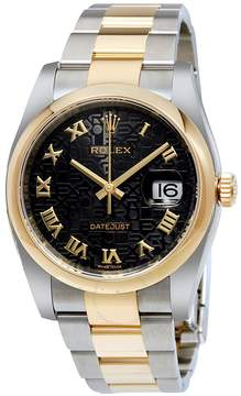 Rolex Datejust 36 Black Dial Stainless Steel and 18K Yellow Gold Oyster Bracelet Automatic Men's Watch
