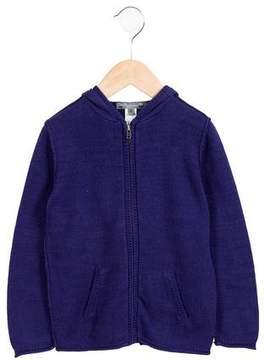 Bonpoint Boys' Hooded Knit Cardigan