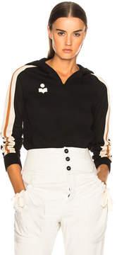 Etoile Isabel Marant Dawson Sporty Knit Hooded Sweatshirt
