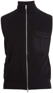 Maison Margiela Zip-through ribbed-jersey gilet