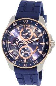 GUESS Men's Jet W0798G2 Silver Silicone Japanese Quartz Fashion Watch