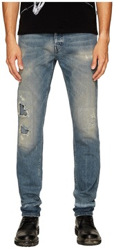 Just Cavalli Super Slim Fit Jeans in Blue Distressed Men's Jeans