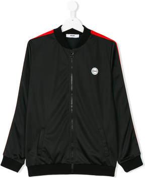 MSGM logo patch bomber jacket