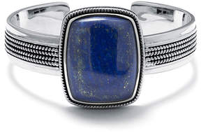 Lapis FINE JEWELRY Dyed Blue Sterling Silver Rectangular Cuff Bracelet