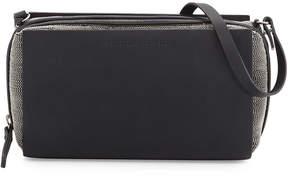 Brunello Cucinelli Leather & Monili Small Messenger Bag, Navy