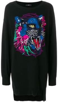 Diesel tiger-intarsia sweater dress