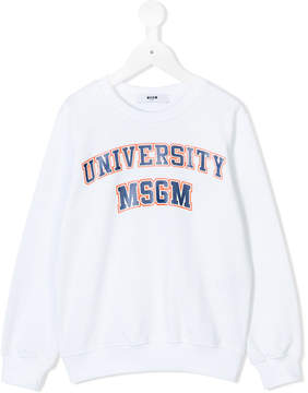 MSGM university logo sweatshirt
