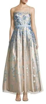 Eliza J Embroidered Evening Gown