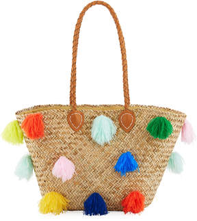 San Diego Hat Company Seagrass Tote Bag with Tassels