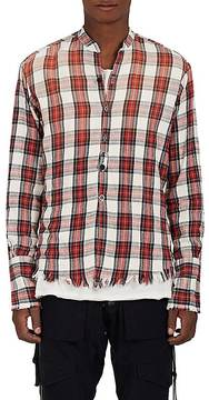 Greg Lauren Men's Studio Plaid Cotton Flannel Shirt