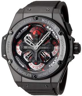 Hublot Big Bang King Power Unico GMT Skeleton Dial Ceramic Men's Watch