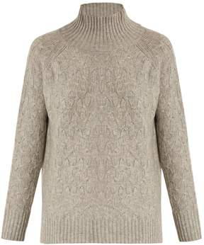 Allude High-neck wool and cashmere-blend sweater