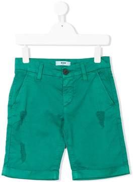 MSGM distressed chino shorts