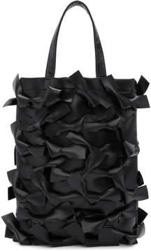 Comme des Garcons Black Faux-Leather Bows Tote