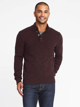 Old Navy Mock-Neck Button-Front Sweater for Men