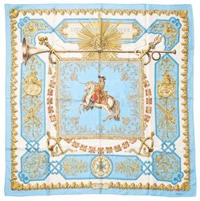 Hermes Women's Vintage Blue Magnus Scarf 90