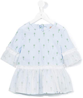 No.21 Kids palm tree print blouse