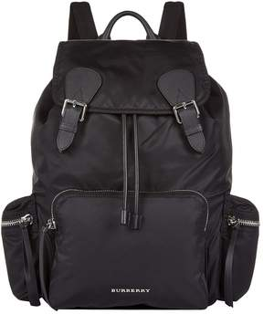 Burberry Large Buckled Rucksack - BLACK - STYLE