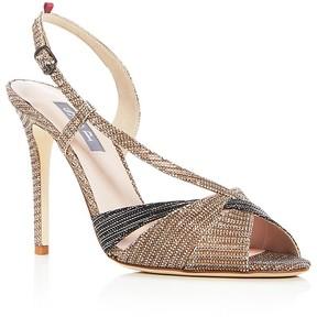 Sarah Jessica Parker Exultant Metallic Slingback Sandals