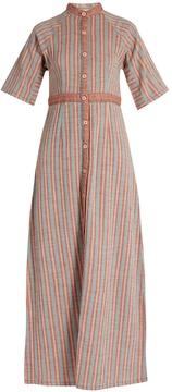 Ace&Jig Ballad stand-collar striped-cotton dress