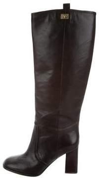 Diane von Furstenberg Knee-High Logo Boots