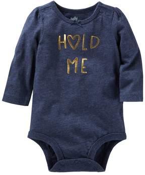 Osh Kosh Baby Girl Hold Me Bodysuit