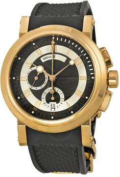 Breguet Marine Black Dial Rubber Men's Watch