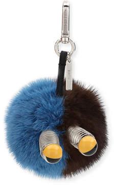 Fendi Fur Spring Eyes Charm for Bag or Briefcase