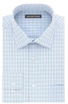 Geoffrey Beene Plaid Cotton Dress Shirt
