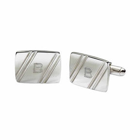 Asstd National Brand Personalized Facet-Cut Cuff Links