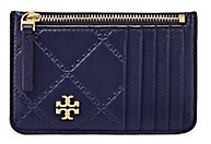 Tory Burch Georgia Top-Zip Card Case - ROYAL NAVY - STYLE