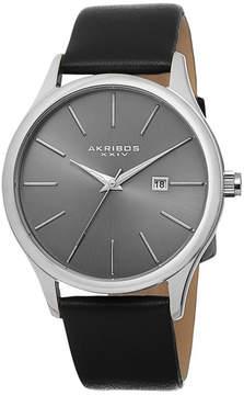 Akribos XXIV Mens Black Strap Watch-A-618ss