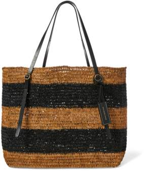 Polo Ralph Lauren Raffia Striped Lennox Tote