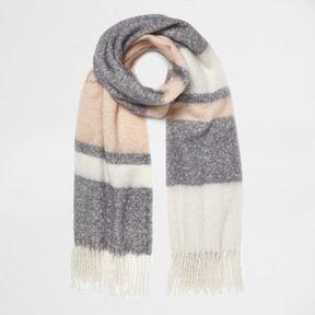 River Island Womens Light pink block stripe blanket scarf