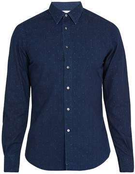 Boglioli Regular-fit polka-dot print cotton shirt