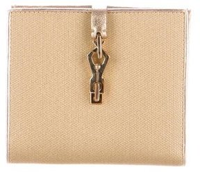 Gucci Metallic Compact Wallet - GOLD - STYLE