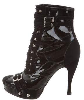 Christian Dior Round-Toe Platform Boots