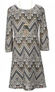 I.N. Girl Big Girls 7-16 3/4-Sleeve Printed Dress