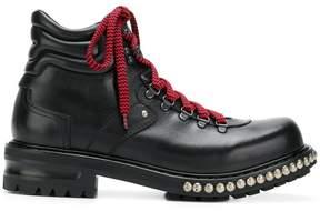 Alexander McQueen studded hiking boots